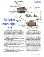 Bulletin municipal n°1 – Mai 2019