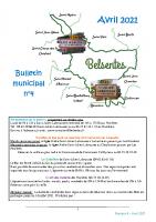 Bulletin municipal AVRIL 2021